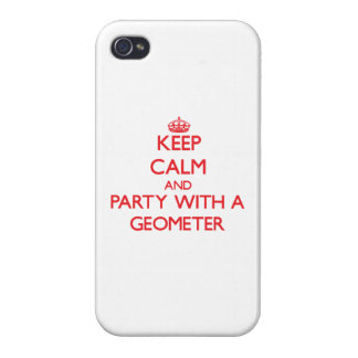 Keep Calm and Party With a Geometer Cases For iPhone 4