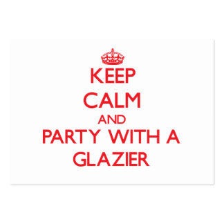 Keep Calm and Party With a Glazier Pack Of Chubby Business Cards