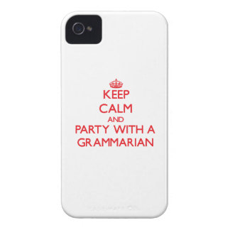 Keep Calm and Party With a Grammarian iPhone 4 Case-Mate Cases
