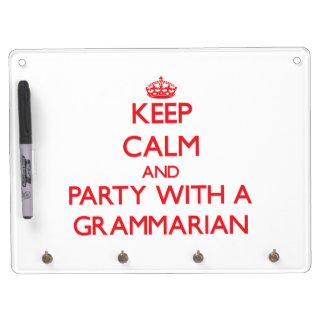 Keep Calm and Party With a Grammarian Dry-Erase Board