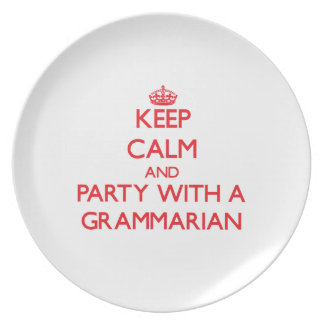Keep Calm and Party With a Grammarian Party Plates