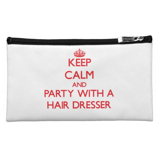 Keep Calm and Party With a Hair Dresser Makeup Bags