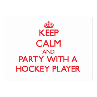Keep Calm and Party With a Hockey Player Business Card