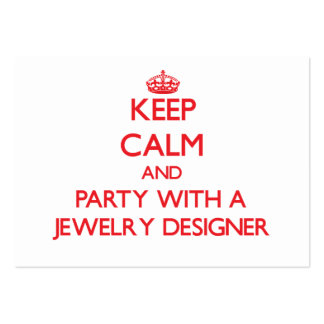 Keep Calm and Party With a Jewelry Designer Business Card Template