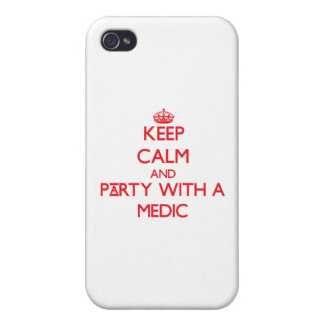 Keep Calm and Party With a Medic iPhone 4/4S Cover