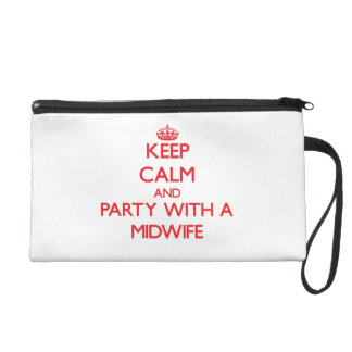 Keep Calm and Party With a Midwife Wristlet Purses