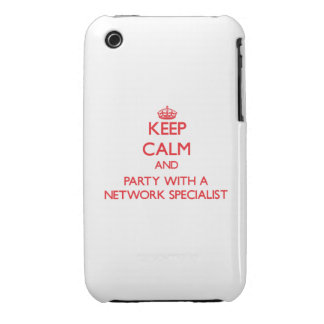 Keep Calm and Party With a Network Specialist iPhone 3 Covers