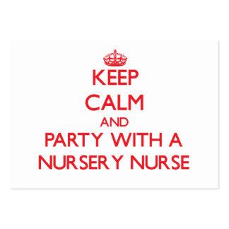 Keep Calm and Party With a Nursery Nurse Business Cards