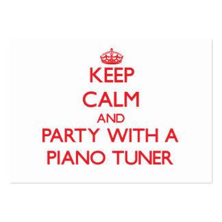 Keep Calm and Party With a Piano Tuner Business Card Template