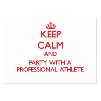 Keep Calm and Party With a Professional Athlete Business Card