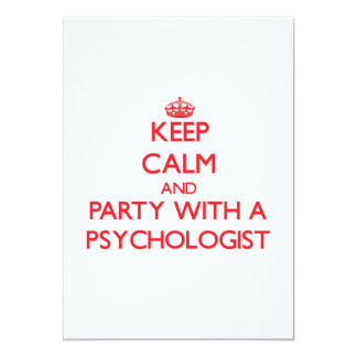 Keep Calm and Party With a Psychologist Personalized Announcement