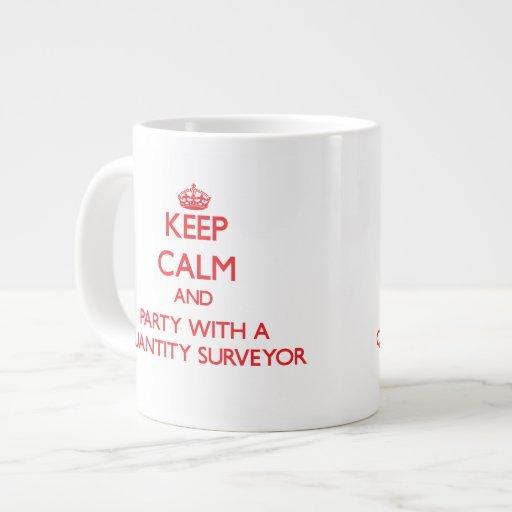 Keep Calm and Party With a Quantity Surveyor Jumbo Mug