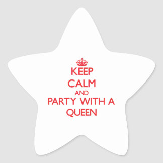 Keep Calm and Party With a Queen Sticker