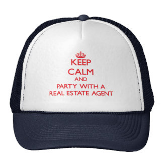 Keep Calm and Party With a Real Estate Agent Hats