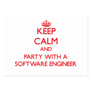 Keep Calm and Party With a Software Engineer Business Card