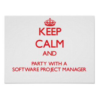 Keep Calm and Party With a Software Project Manage Poster