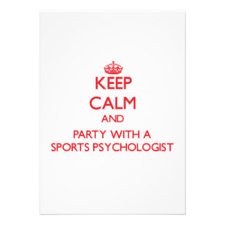 Keep Calm and Party With a Sports Psychologist Announcement