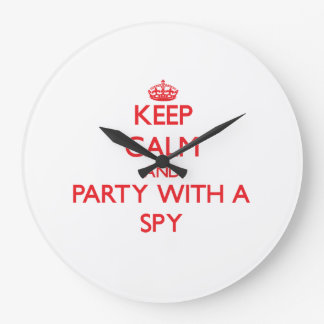 Keep Calm and Party With a Spy Wall Clocks
