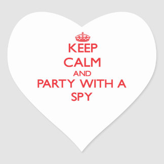 Keep Calm and Party With a Spy Sticker