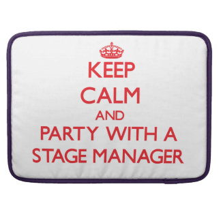 Keep Calm and Party With a Stage Manager Sleeve For MacBooks