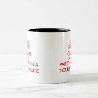 Keep Calm and Party With a Tourist Guide Mug