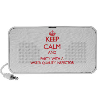 Keep Calm and Party With a Water Quality Inspector iPhone Speaker