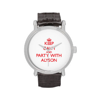 Keep Calm and Party with Alyson Wrist Watches