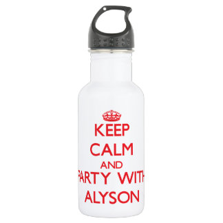 Keep Calm and Party with Alyson 532 Ml Water Bottle