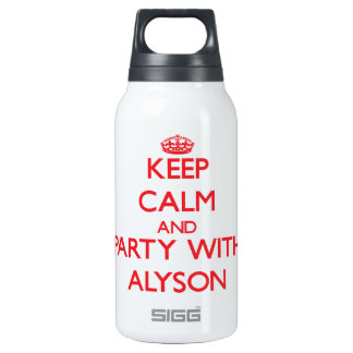 Keep Calm and Party with Alyson 10 Oz Insulated SIGG Thermos Water Bottle