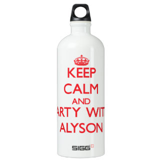 Keep Calm and Party with Alyson SIGG Traveller 1.0L Water Bottle