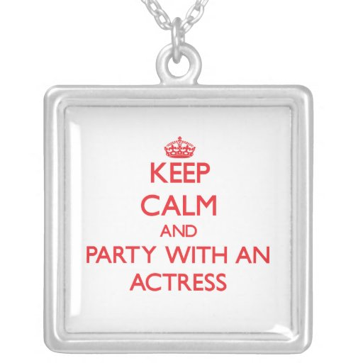 Keep Calm and Party With an Actress Jewelry