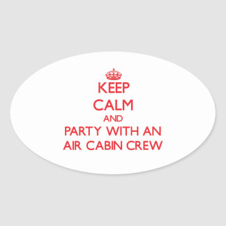 Keep Calm and Party With an Air Cabin Crew Sticker
