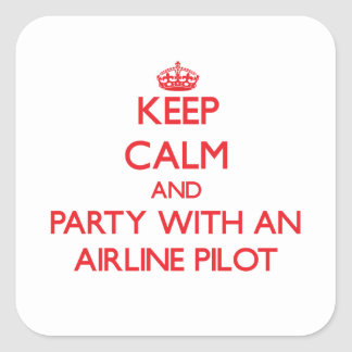 Keep Calm and Party With an Airline Sticker