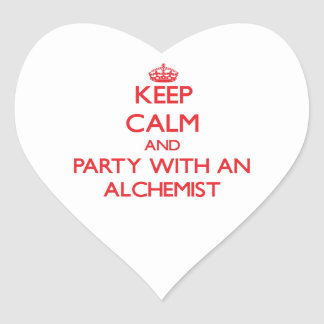 Keep Calm and Party With an Alchemist Heart Stickers