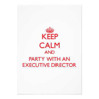 Keep Calm and Party With an Executive Director Personalized Invitation