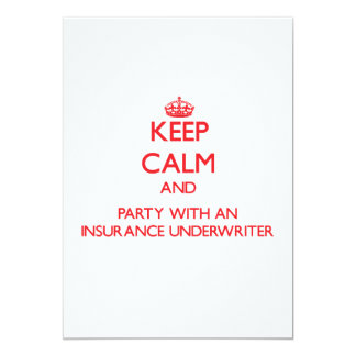 Keep Calm and Party With an Insurance Underwriter Card