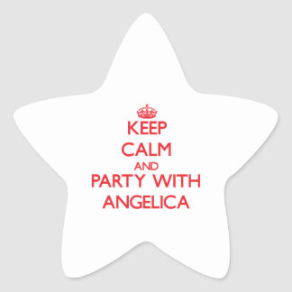 Keep Calm and Party with Angelica Star Sticker