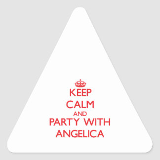 Keep Calm and Party with Angelica Triangle Sticker