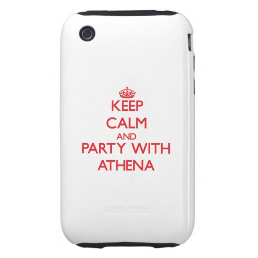 Keep Calm and Party with Athena iPhone 3 Tough Case