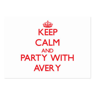 Keep calm and Party with Avery Business Card