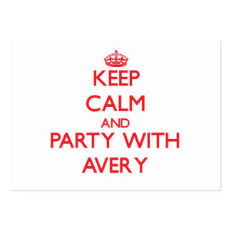 Keep calm and Party with Avery Business Cards