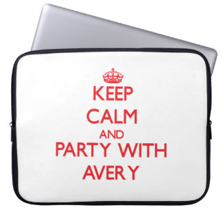 Keep calm and Party with Avery Computer Sleeves
