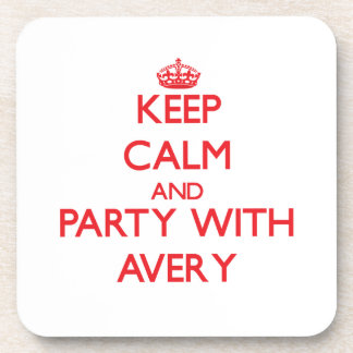 Keep calm and Party with Avery Coasters