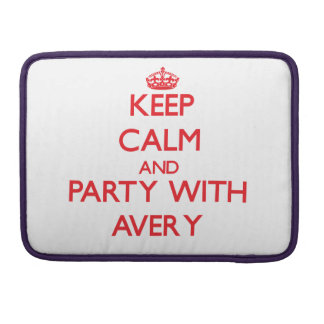 Keep calm and Party with Avery MacBook Pro Sleeves