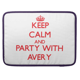 Keep calm and Party with Avery Sleeve For MacBooks
