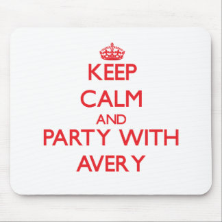 Keep calm and Party with Avery Mousepads