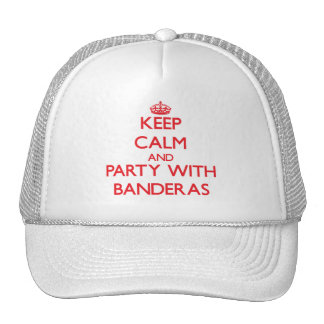 Keep calm and Party with Banderas Mesh Hats