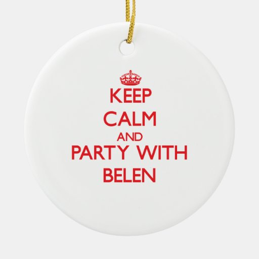 Keep Calm and Party with Belen Christmas Tree Ornaments