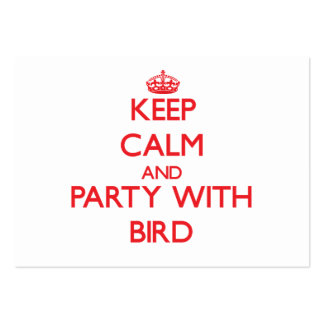 Keep calm and Party with Bird Business Card Templates