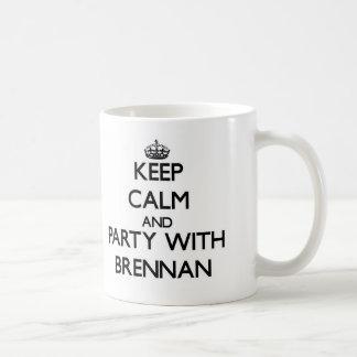 Keep Calm and Party with Brennan Basic White Mug